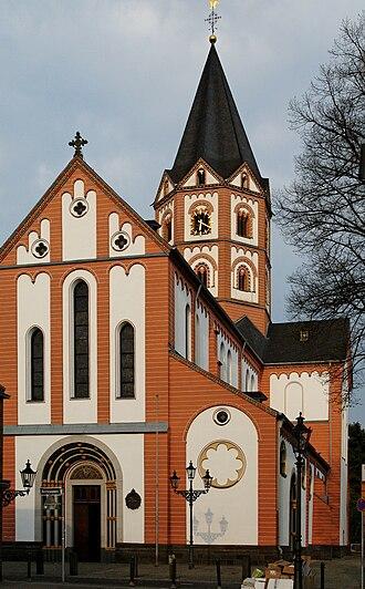 Düsseldorf-Gerresheim - Image: St. Margareta in Duesseldorf Gerresheim, von Westen