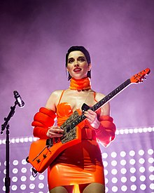 St. Vincent performing at the Hollywood Palladium in Los Angeles in October 2018