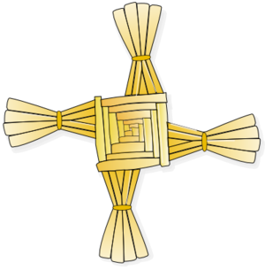 saint brigid of Ireland's cross Made by Theres...