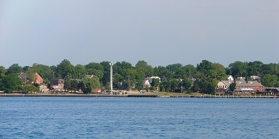 View from across the St. Clair River