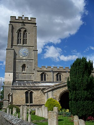 St Guthlac's Church, Market Deeping - The bell tower from the south