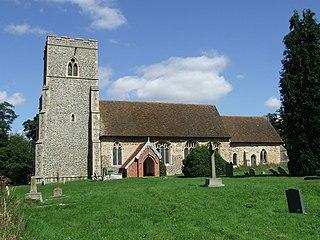 Edwardstone village in Babergh, Suffolk, England