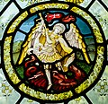 Stained glass window, St Peter's church, Firle, Sussex (16977345301).jpg