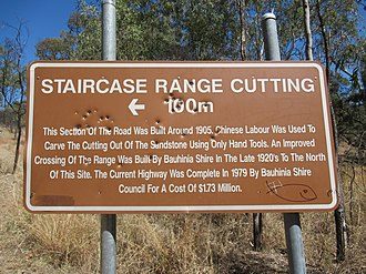 Springsure - Image: Staircase Range Cutting, near Springsure, Queensland info sign 01