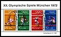 Stamps of Germany (BRD), Olympiade 1972, Ausgabe 1972, Markenblock 2, Sonderstempel.jpg