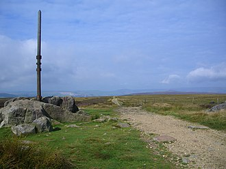 Stanedge Pole - Old Stanedge Pole with Long Causeway to the right