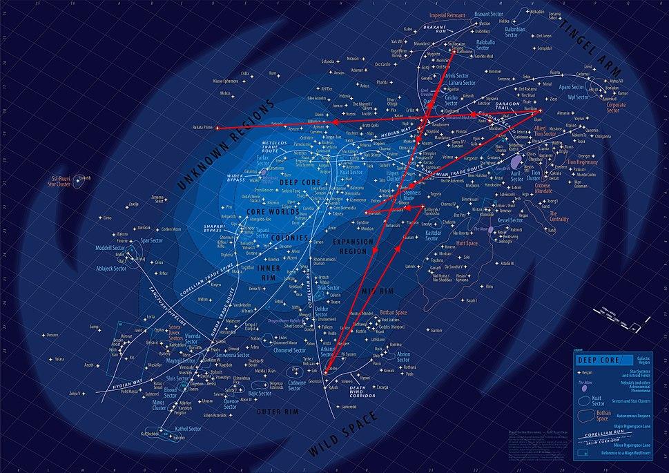 Star Wars Galaxy Map KOTOR Quest
