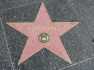 Hall's star on Hollywood Walk of Fame Star of Monty Hall.jpg