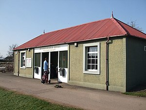 Musselburgh Links - Old Starters Building (A new starters building was built in 2011).
