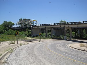 State Highway 3-A Bridge at Cibolo Creek - Texas State Highway 3-A Bridge at Cibolo Creek