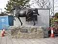 Statue of a horse, Alban Square, Aberaeron - geograph.org.uk - 591828.jpg