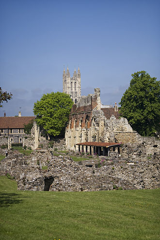 Canterbury - St. Augustine's Abbey, which forms part of the city's UNESCO World Heritage Site, was where Christianity was brought to England.