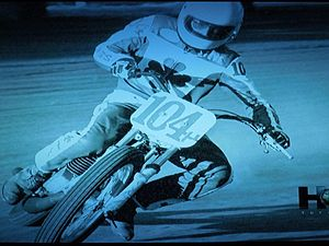 Steve Butler -  Butler rides to a win in a 1978 pro flat track race at the Greenville (OH) ½ mile