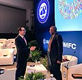 Steven Mnuchin and Lesetja Kganyago at 2018 IMF Spring Meeting.jpg