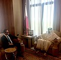 Steven Mnuchin and Tamim bin Hamad al-Thani in October 2017.jpg