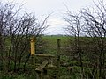Stile and triangulation pillar - geograph.org.uk - 351696.jpg