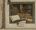 Stilleven met boeken, bladmuziek, viool, hemelglobe en een uil Rijksmuseum SK-A-4254-8.jpeg