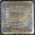 Stumbling block for Adele Metternich (Thieboldsgasse 98)