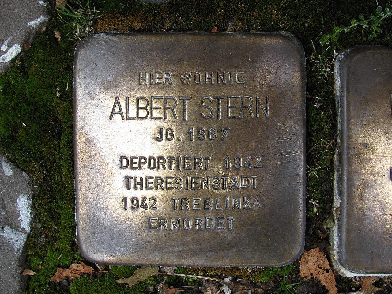 Stolperstein Albert Stern, 1, Weststraße 44, Schmallenberg, Hochsauerlandkreis.jpg