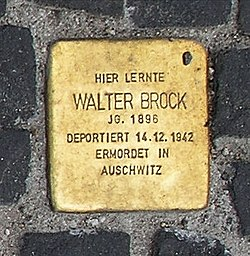 Photo of Walther Brock brass plaque