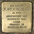 Stolperstein für Dr. Artur Weinmann (Köln).jpg