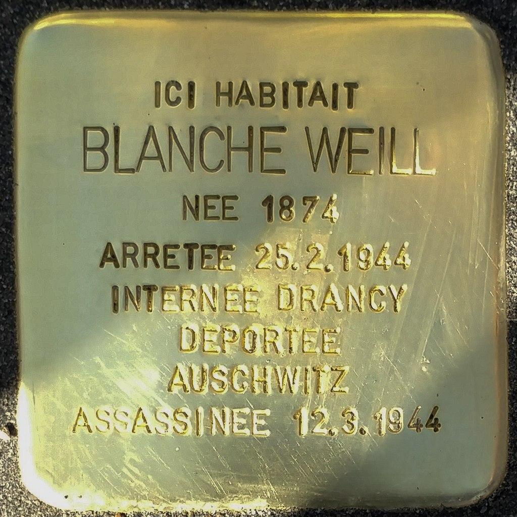Stolperstein Blanche Weill (Herrlisheim-près-Colmar)