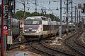 Strasbourg Gare Centrale voies 2 3 rames TGV 19 août 2013 03.jpg
