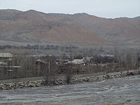Stream and Ak-Suu River, Village Ak-Suu.JPG