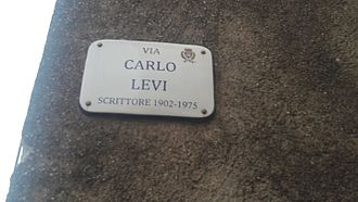 Carlo Levi - street name sign in Erice, Sicily