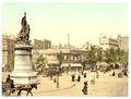 Street scene and monument, in the Place Clichy, Paris, France-LCCN2002707975.tif