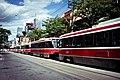 Streetcar line-up Toronto July 2011.jpg