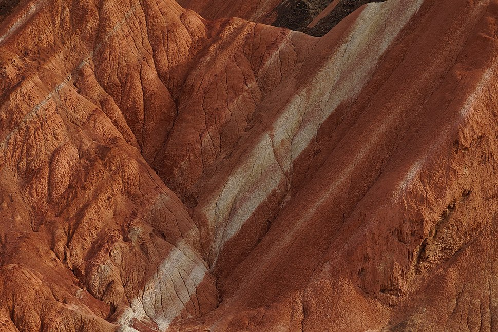 Striated rocks in Zhangye National Geopark