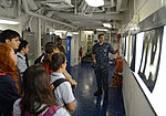 Students tour USS Bonhomme Richard during port visit 121030-N-KB563-085.jpg