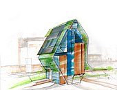 Green Architecture Concept Drawing By Massimo Iosa Ghini.