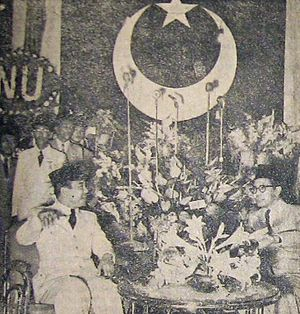 Masyumi Party - President Sukarno at a 1954 Masyumi convention