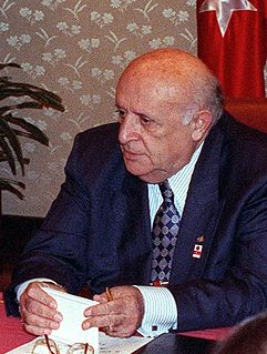 Süleyman Demirel former president and prime minister of Turkey