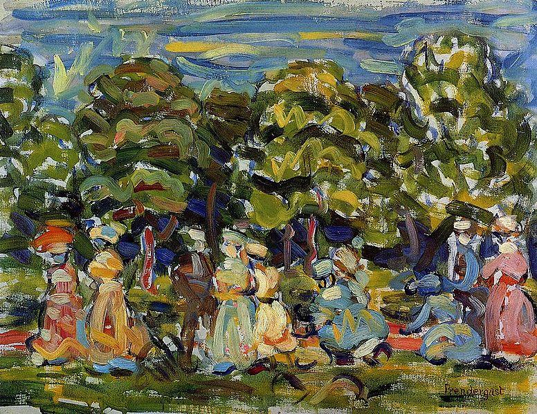 File:Summer in the Park Maurice Prendergast.jpeg