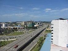 A highway in Kota Kinabalu