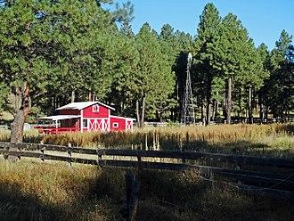 Kachina Village, Arizona - Red barn near Kachina Village off US-89A