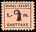 Switzerland Basel 1942 Tourism revenue 1Fr - 4 square period.jpg