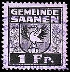 Switzerland Saanen revenue stamp 1Fr - 22.jpg