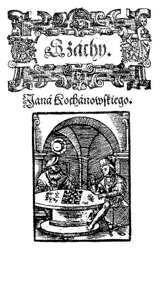 Chess (poem) - Front page of the 1585 edition