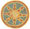 Szent Korona Krisztus zománc napjelképe. A hettita (luwiai) hieroglif írás Nap jelének megfelelője..jpg