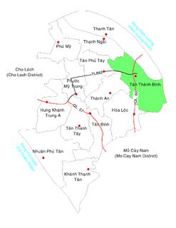 Tân Thành Bình Commune and Village in Mekong Delta, Vietnam