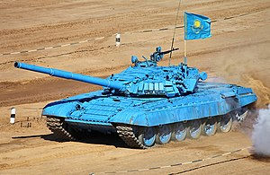 Armed Forces of the Republic of Kazakhstan - Kazakh T-72B tank at the 2013 Tank Biathlon