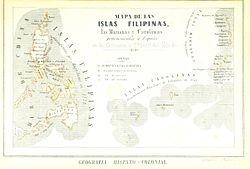 Map of the Spanish East Indies (1857)