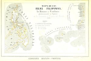 Spanish East Indies - Map of the Spanish East Indies (1857)