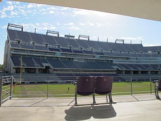 Amon G. Carter Stadium - Home side after improvements, 2016