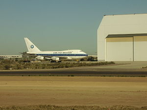 China Airlines Flight 006 - N4522V at Tijuana International Airport in 2009.