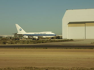 China Airlines Flight 006 - N4522V at Tijuana International Airport in 2009.